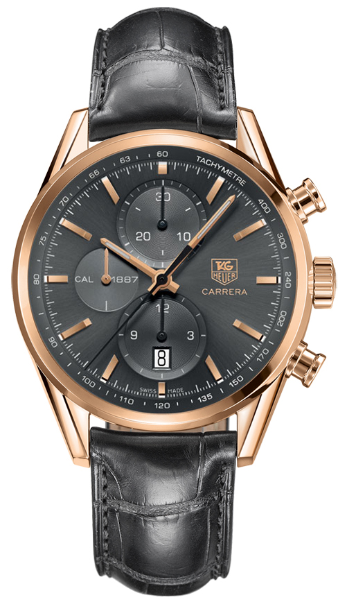 Best Extended Car Warranty >> TAG Heuer Carrera Calibre 1887 Grey Chronograph Mens Automatic Watch CAR2141.FC8182