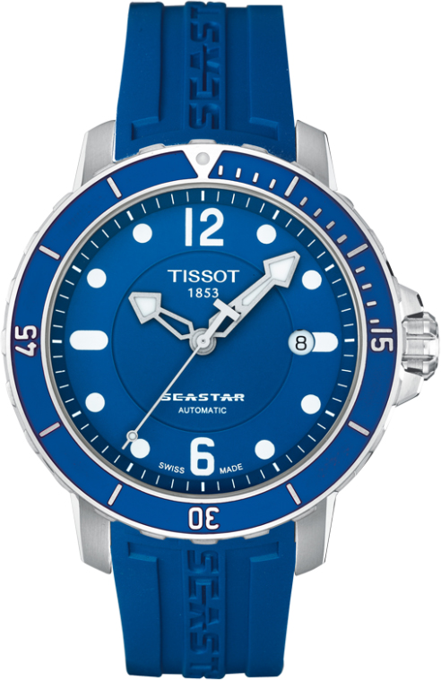 Extended Auto Warranty >> T066.407.17.047.00 Seastar 100 Auto Blue Dial Mens Blue ...
