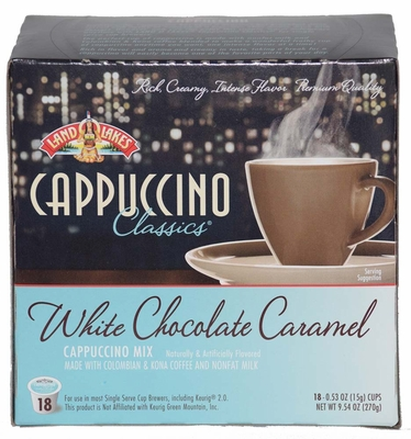 LAND O LAKES® Cappuccino Single Serve - White Chocolate Caramel 18 Cup Box