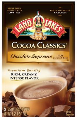 LAND O LAKES® Chocolate Supreme Cocoa Classics® 5 Packets 12 Count Case