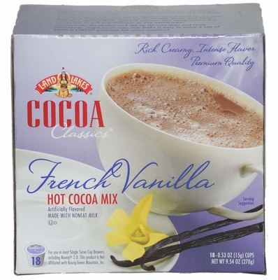 LAND O LAKES® Cocoa Single Serve - French Vanilla 18 Cup Box