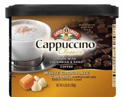 Land O Lakes® White Chocolate Caramel Cappuccino Canister 6 Count Case