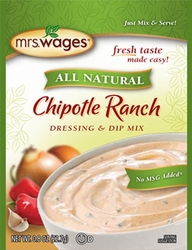 Mrs. Wages® All Natural CHIPOTLE RANCH Dressing & Dip Mix Case