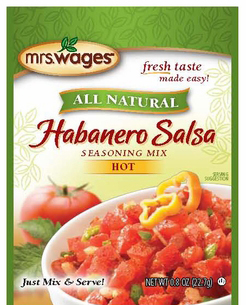 Mrs. Wages� Habanero Salsa Mix Case
