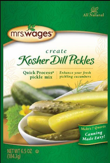 Mrs. Wages® Quick Process Kosher Dill Pickle Mix Case