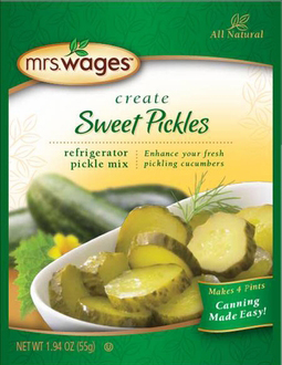 Mrs. Wages® Refrigerator Sweet Pickle Mix Case
