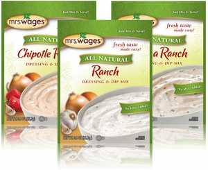 Mrs. Wages® Salad Dressing & Dip Mixes