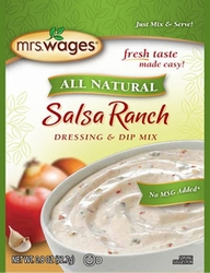 Mrs. Wages® All Natural SALSA RANCH Dressing & Dip Mix