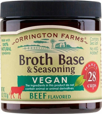 Orrington Farms® All Natural Vegan Beef Flavored Base 6 pk Case