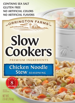 Orrington Farms<sup>®</sup> Chicken Noodle Soup Slow Cookers Mix 12 Pouches/Case