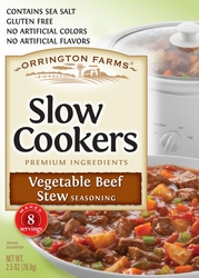 Orrington Farms® Vegetable Beef Stew Slow Cookers Mix Pouch