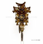 1 Day Black Forest Carved Cuckoo Clock with Hand Painted Edelweiss By H�nes
