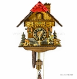 1 Day Black Forest Chalet Cuckoo Clock with Clock Peddler By H�nes
