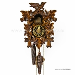 1 Day Black Forest Walnut Colored Carved Cuckoo Clock By H�nes