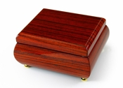 Alluring Hi Gloss Rosewood Simple Design Music Jewelry Box