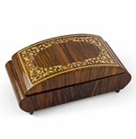 Eclectic Curved 22 Note Arabesque Design Inlay Music Jewelry Box