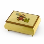 Festive 30 Note Handcrafted Beige Happy Birthday Bear Music Box