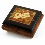 Gorgeous Hand Made Musical Jewelry Box with Torah Wood Inlay