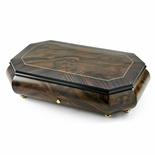 Handcrafted 72 Note Sankyo Classic Style Inlay Cut Corners Grand Music Box
