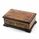 Sophisticated Swiss 36 Note Classic Style with Framed Panel Inlay Grand Music Box