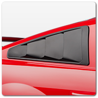 05-09 Mustang Quarter Window Louvers & Scoops