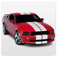 05-09 Mustang Racing Stripes