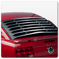 05-09 Mustang Rear Window Louvers