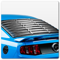 10-14 Mustang Rear Window Louvers