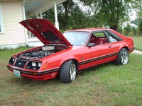 1983 Red Mustang GT Hatchback - Brent Hill '83
