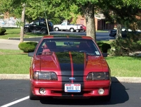 1989 Inferno Red Fox Body Mustang GT Pictures - Bob Sanders '89