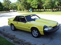 "1991 Yellow Mustang LX Notchback - James ""Jimbo"" Pilarczyk '91"