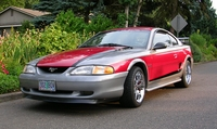 1996 Laser Red & Gunmetal Gray Mustang GT Coupe - Dale Swartz '96