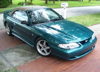 1996 Pacific Green Mustang GT Convertible - Ozzie Irizarry '96