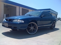 1998 Atlantic Blue Mustang V6 - King James '98