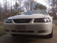 1999 Crystal White Mustang V6 Coupe - Ryan Wuerfl '99