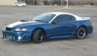 2001 Blue & White Mustang V6 - Blake Canter '01