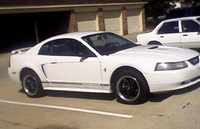 2001 White Mustang V6 - Dave Russell '01