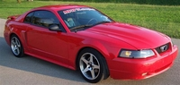 2002 Flame Red Mustang GT Pictures- Leslie H. Wyatt '02