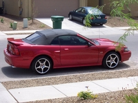 2002 Laser Red Mustang GT Convertible - Kristopher Peacock '02