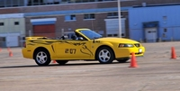 2004 Yellow Mustang V6 Convertible - Chazz Logue '04