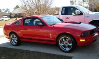 2005 Torch Red Mustang V6 - David and Donna Kisner '05