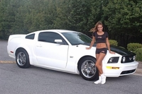 2006 White with Black Stripe Mustang GT - John Sapp '06