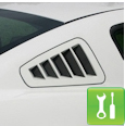 2010-2011 SHR Mustang Flush-Mount Quarter Window Louvers - Installation Instructions