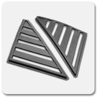 79-93 Mustang Quarter Window Louvers & Scoops