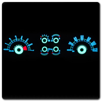 94-98 Mustang White Face Gauges & Glow Gauges
