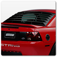 99-04 Mustang Rear Window Louvers