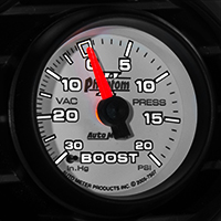 Auto Meter Phantom II Boost/Vac Gauge - 20 psi Mechanical (79-14 All)