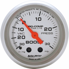 Auto Meter Pro-Comp Ultra-Lite Boost/Vac Gauge - Mechanical (79-14 All)