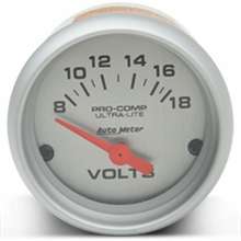 Auto Meter Pro-Comp Ultra-Lite Voltmeter Gauge - Electric (79-14 All)