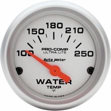 Auto Meter Pro-Comp Ultra-Lite Water Temp Gauge - Electric (79-14 All)